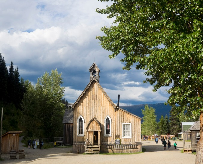 One of the churches in Barkerville