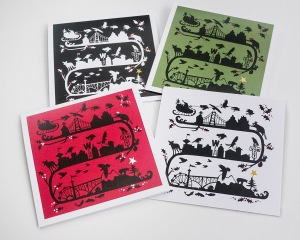 City Crow Christmas cards by June Hunter
