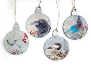 Winter Birds of the Pacific Northwest Christmas Tree Ornaments by June Hunter