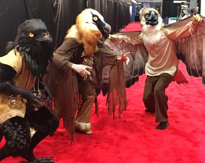 bird costumes ioc2018