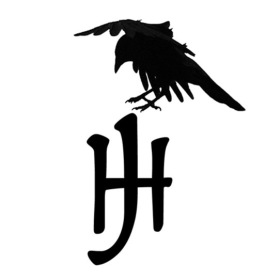 logo with crow