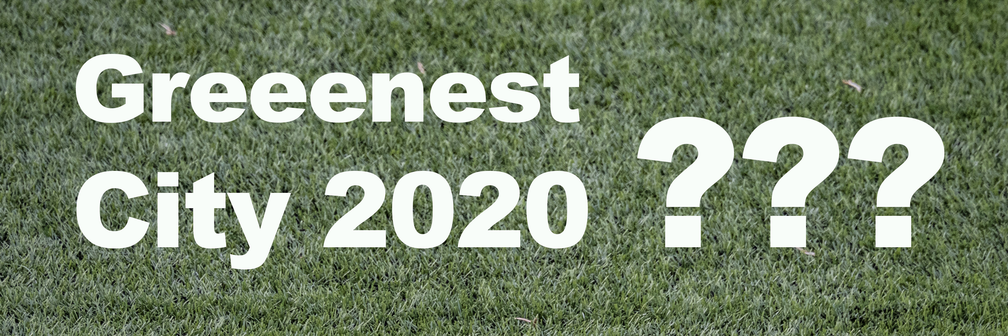 Greenest City graphic on artificial turf