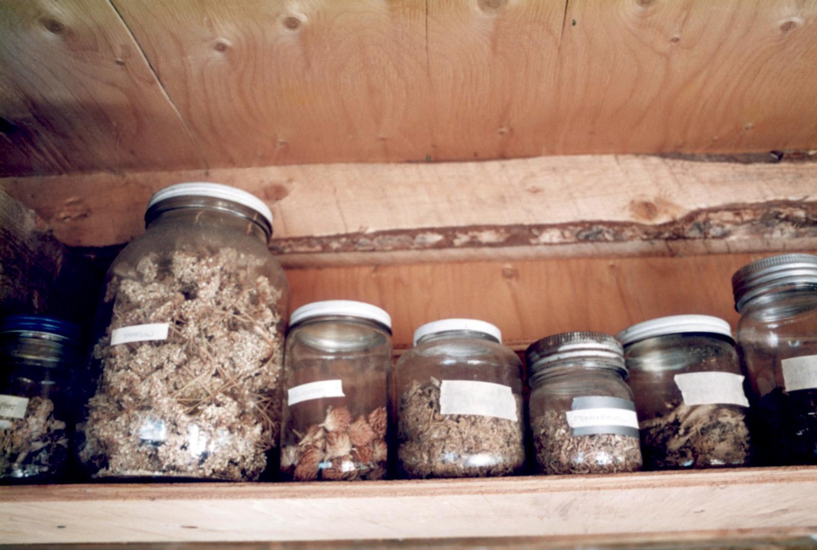 teas in jars